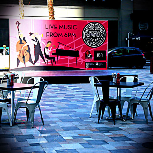Event management agency in UAE, Brand activations, Pizza Express event
